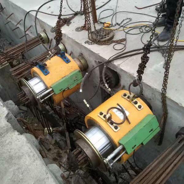 杭州t梁智能張拉廠家大噸位前卡式千斤頂-豫工機械