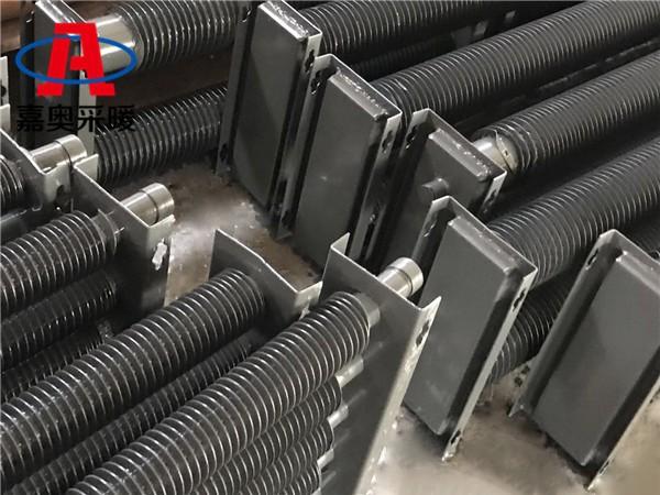 铝挤压翅片管当涂镀锌钢带蒸汽加热器