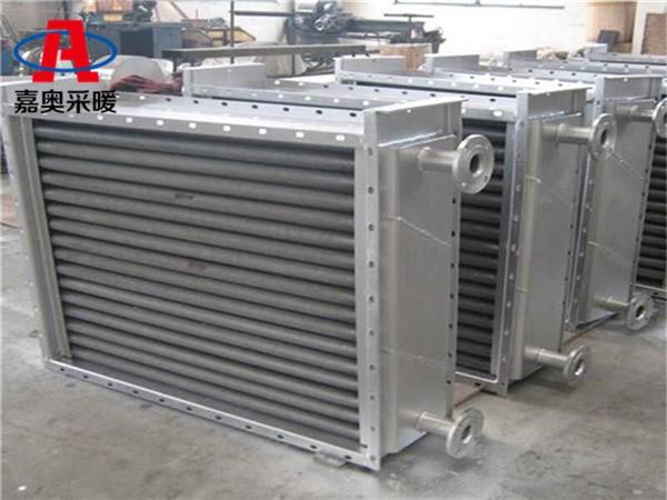 镀锌锯齿翅片管罗江盘管蒸发器空气冷却器