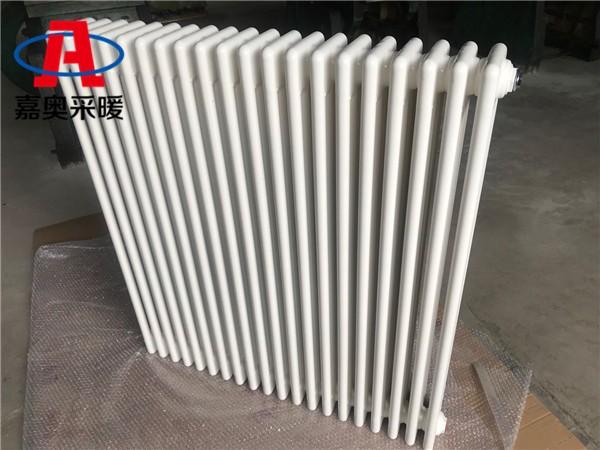 云安钢管柱型散热器qfgz404钢制圆管四柱散热器