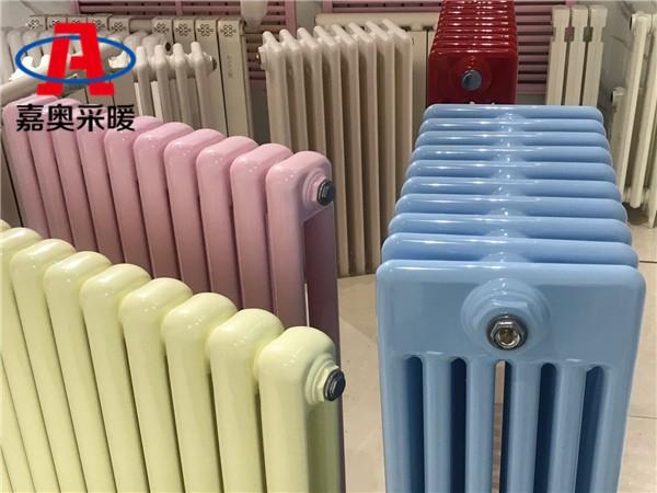安西钢管柱式散热器gz606钢制六柱椭圆管散热器