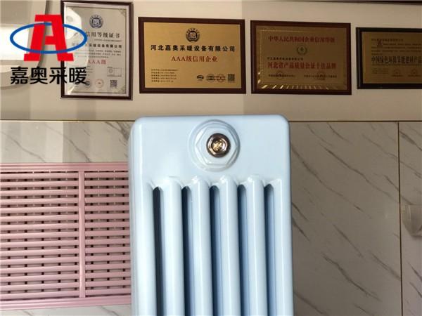 广元钢管柱型散热器gz606椭圆管钢六柱散热器