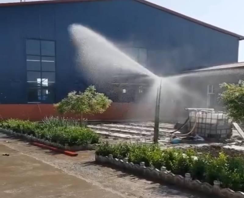 河南省周口市鹿邑县智能喷头刚出苗时浇水