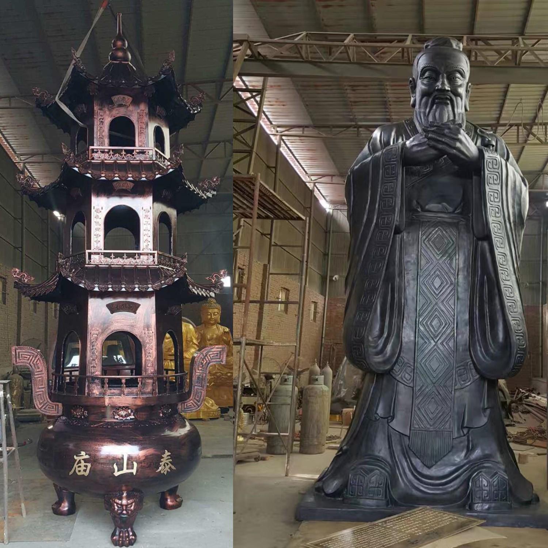 民俗雕塑-商業街鑄銅雕塑可塑性強銀雅雕塑東方