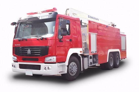 沅陵重汽豪沃12吨消防车厂区消防车