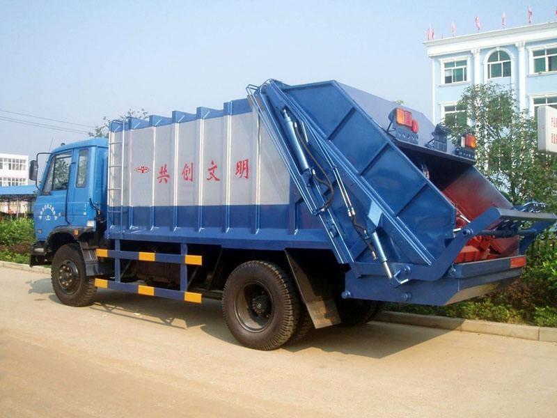 固原小區自裝卸式垃圾車@價格