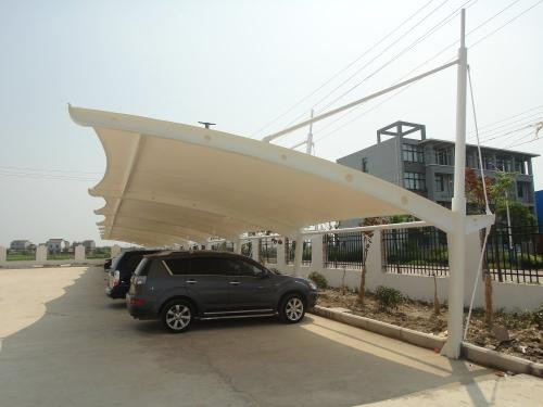 Gaotang car shed design renderings car shed membrane structure manufacturers installation price