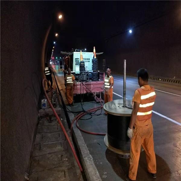 钦州市高速吹缆施工